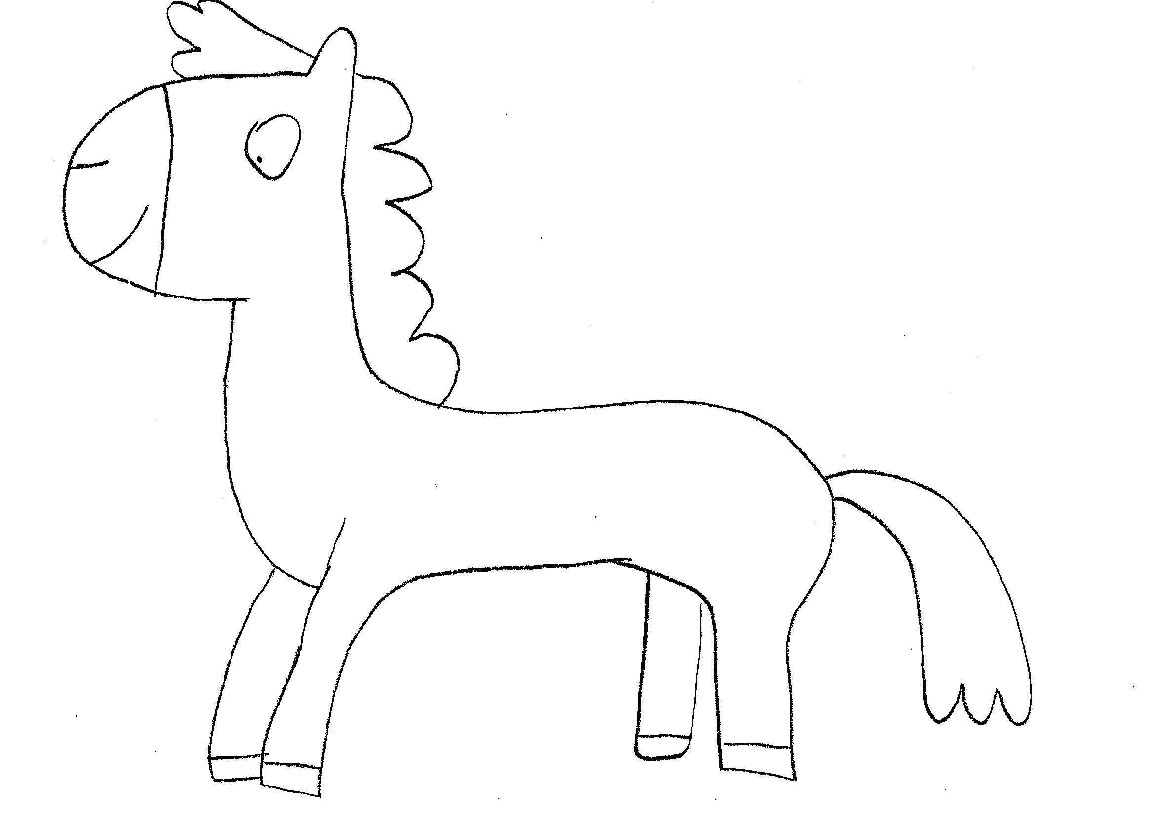 Disegni Da Colorare Bambini I Cavallo