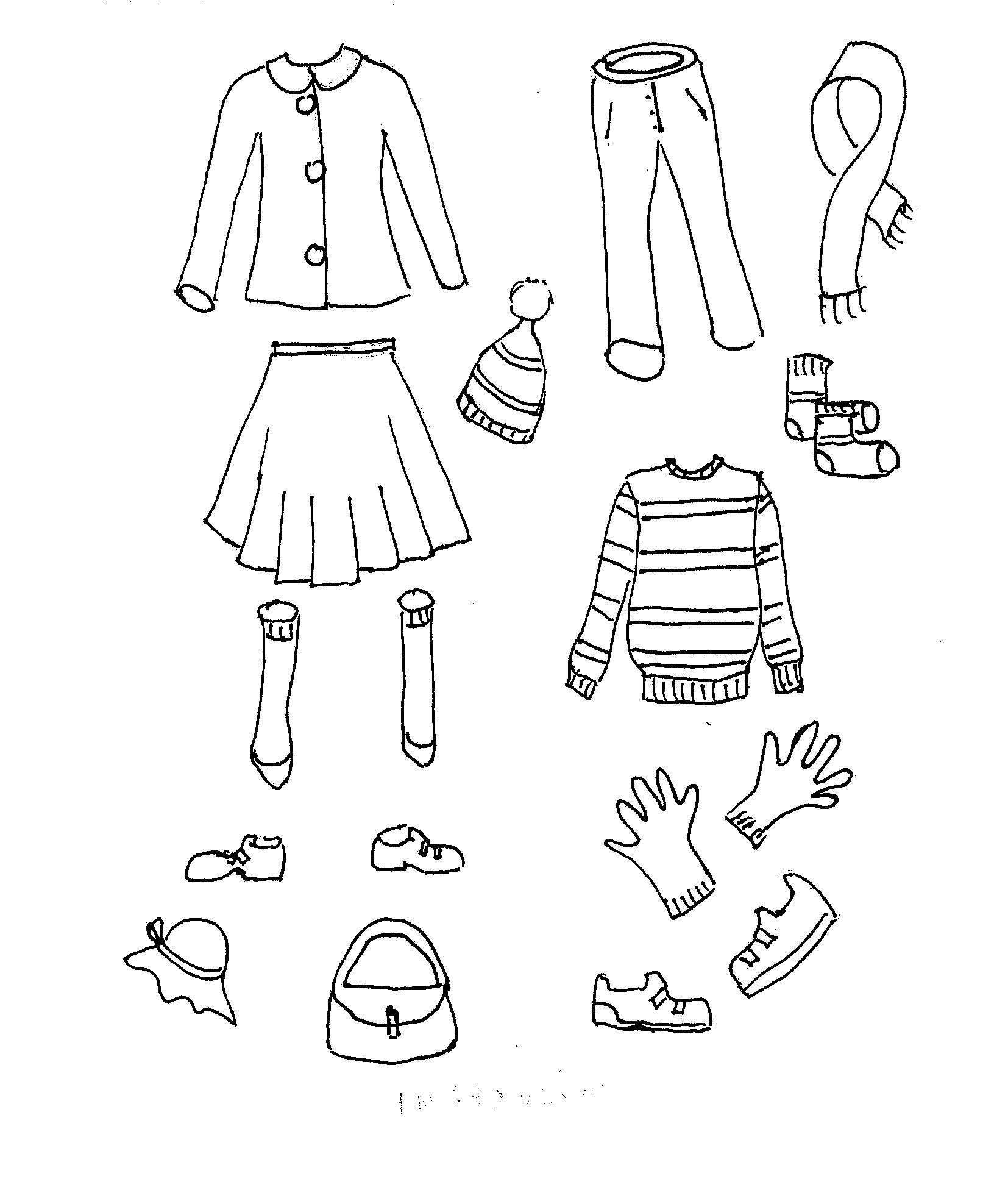 Disegni da colorare bambini i vestiti for Disegni da colorare e ritagliare per bambini